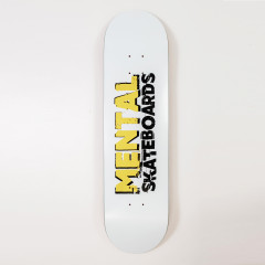 "Дека Mental Skateboards White 8.125"""